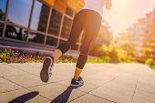 Runner Girl - Athlete Running In The City, Woman Fitness