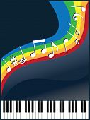 image of rainbow piano  - abstract vector composition on a musical theme - JPG