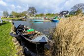 Scenic Harbor In Zempin With Boats