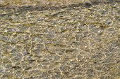 River Bottom Texture With Waves In Shallow Water
