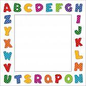 Polka Dot Alphabet Frame