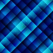 Blue geometric pattern in matrix style.