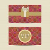 Abstract Vip And Gift Card Set
