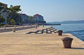 Zadar Waterfront Famous Sea Organs Landmark