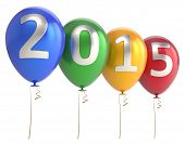 New Year 2015 Balloons Party Holiday Decoration