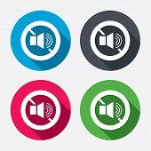 Speaker volume sign icon. No Sound symbol.