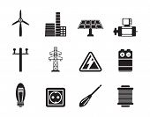 Silhouette Electricity and power icons