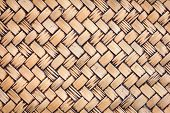 Dirty Old Handcraft Weave Texture Natural Wicker