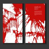 Flyer Template With Splashes Of Blood