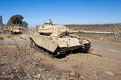 Centurion Tank Left Of The Yom Kippur War