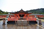 Tourists Visit Itsukushima Shrine In Miyajima, Japan
