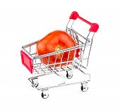 Huge Tomato In Shopping Cart
