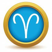 Постер, плакат: Gold Aries icon