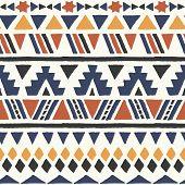 stock photo of aztec  - Ethnic seamless pattern - JPG