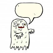 pic of grossed out  - cartoon gross slime ghost with speech bubble - JPG