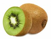 stock photo of section  - Juicy kiwi with section isolated on white background - JPG