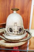 picture of fire-breathing  - Closeup old breathing apparatus mask Koenig - JPG