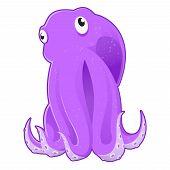 stock photo of sucker-fish  - Vector image of a cartoon sea Octopus - JPG
