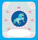 pic of unicorn  - beautiful Unicorn on abstract  card  - JPG