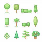 stock photo of ash-tree  - Tree icon set  - JPG