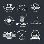 foto of tailoring  - Set of tailor labels - JPG