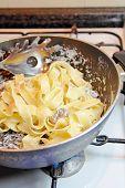Cooking Tagliatelle Pasta poster