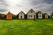 foto of iceland farm  - Lawn covering house in iceland original buildings - JPG