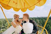 pic of ceremonial clothing  - beautiful wedding ceremony outdoors in the woods - JPG