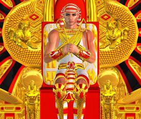 picture of pharaohs  - Egyptian Pharaoh Ramses Close up - JPG