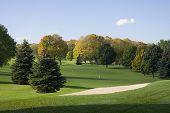 Golf Sandtrap And Fairway