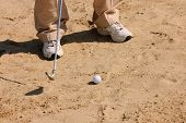 Golfer In A Sandtrap