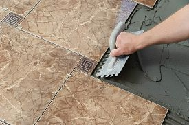 foto of ceramic tile  - Laying Ceramic Tiles - JPG