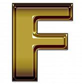 gold upper case F