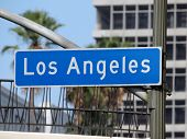 Los Angeles street sign in downtown LA.