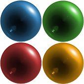 Colorful Translucent Orbs - Digital Illustration