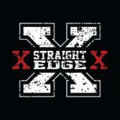 Straight Edge poster