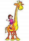 Girl with giraffe.