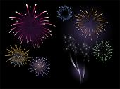 Firework vector. Each burst on separate layer.