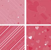 Pink valentine background seamless pattern set