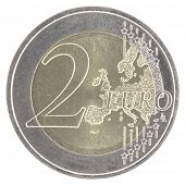 Uncirculated 2 euro with new map