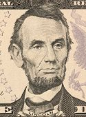 USA - CIRCA 2006: Abraham Lincoln on 5 Dollars 2006 Banknote from U.S.A. 16th President of the Unite