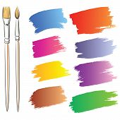picture of paint brush  - Brushes and grunge painted elements - JPG