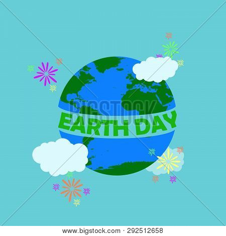 Earth Day Illustration With Green