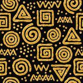 Seamless golden abstract pattern.