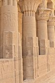 Columns Of Hathor Head Goddess In Philae Temple ( Egypt)
