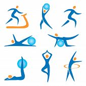 Icons sport fitness