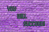 Conceptual Hand Writing Showing You Will Succeed. Business Photo Text Inspiration Motivation To Keep poster