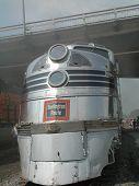 image of burlington  - Old Burlington Route Diesel engine in Rock Island, Illinois for the Train Festival July 21-24, 2011 - JPG