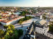 Aerial View Of Vilnius Old Town, One Of The Largest Surviving Medieval Old Towns In Northern Europe. poster