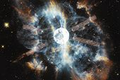 Spacecraft Launch Into Space. Beauty Of Outer Space. Billions Of Galaxies In The Universe. Elements  poster